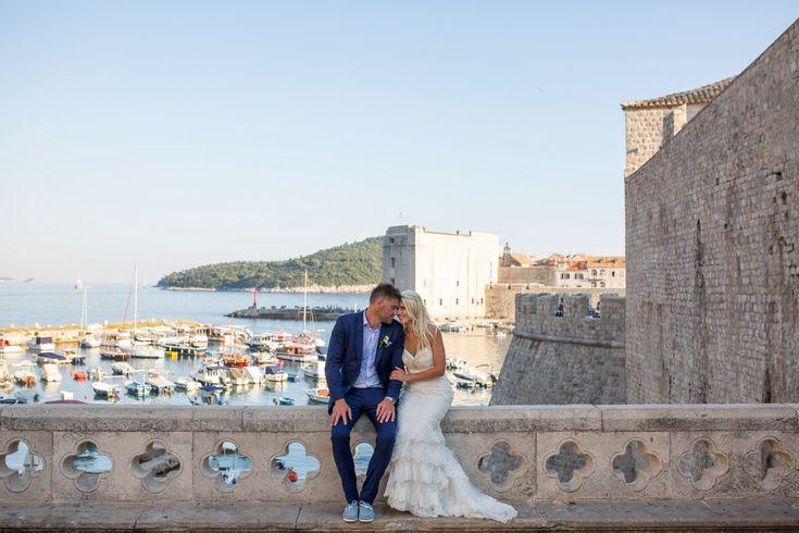 This gorgeous wedding took place in 2017 at the Elegant private terrace in Croatia. #destinationwedding #croatia #seaviewwedding #couple