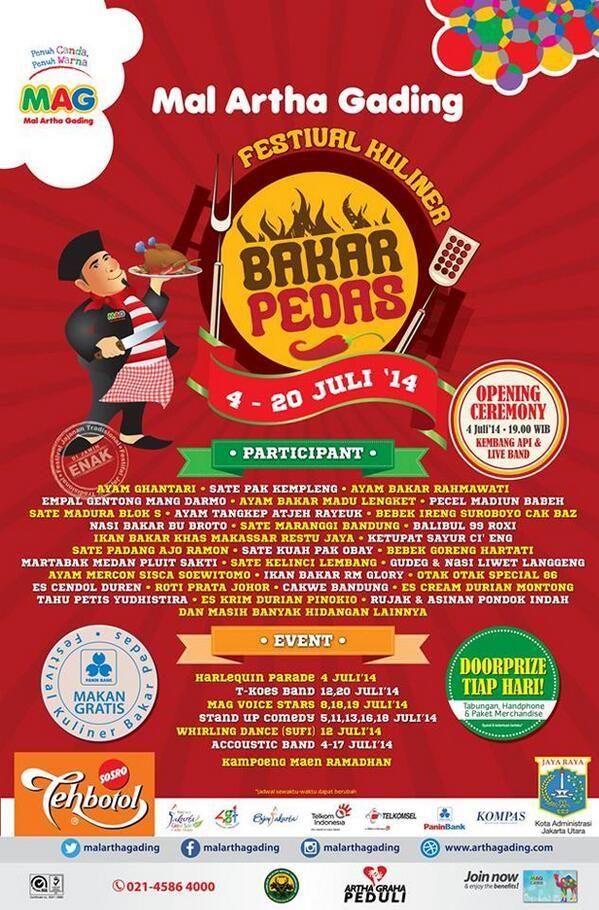Festival Kuliner Bakar Pedas, 4 - 20 Juli 2014 di Mal Artha Gading