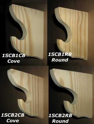 These Wood Shelf Curtain Brackets are used to place a wood shelf over the unused space over your curtains for all those extra treasures you have. These are made for 1 1/4 - 1 3/8 inch wood rods or poles.=