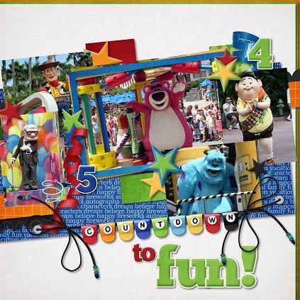 Fun, colorful layout.
