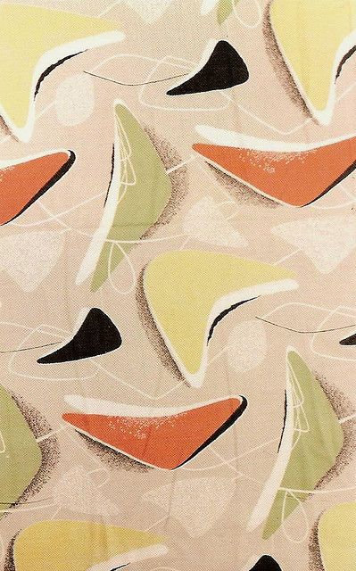 1950s design on fabric, by Java1888 on Flickr #1950s #design #fabric. We had this one at home I feel sure!