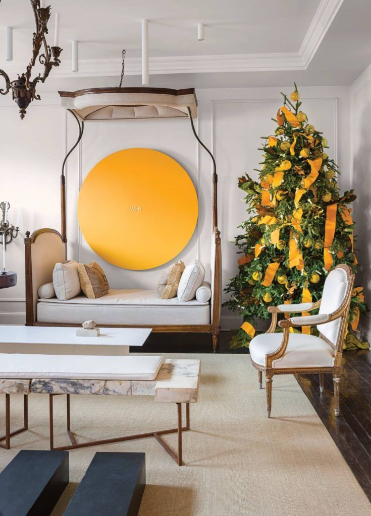 . A Christmas Decorated Townhouse By Darryl Carter   Holidays