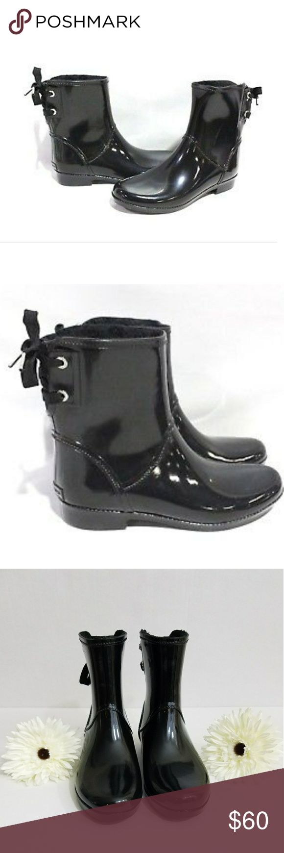 Michael Kors rain boots Classic Larson lace-back short rain boots. NWOB! Authentic! Brand New! Only tried on in store!  Size 6 Michael Kors Shoes Winter & Rain Boots