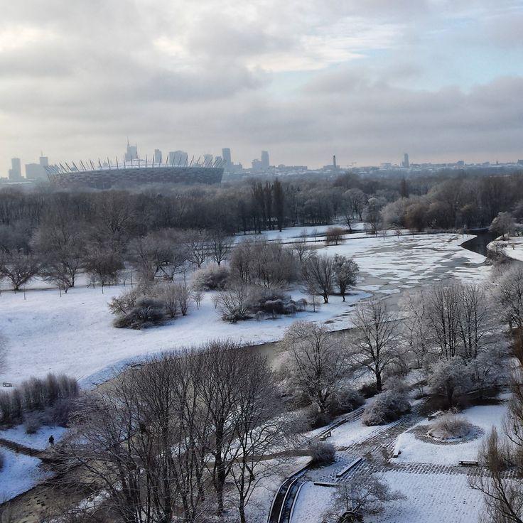 Warsaw, Skaryszewski Park and National Stadium