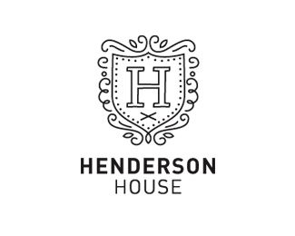 Henderson House by studioz - Vintage Badge Logo - logopond.com