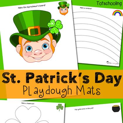 St. Patrick's Day Playdough Mats