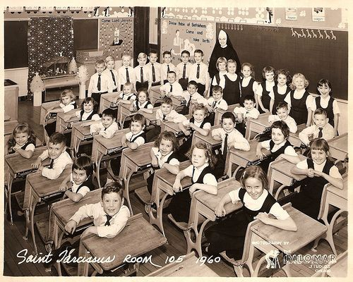 Catholic school photograph, 1960s.