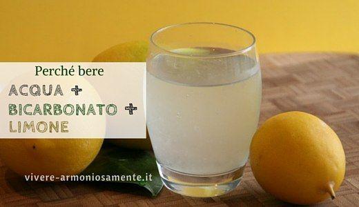 bere-acqua-bicarbonato-e-limone