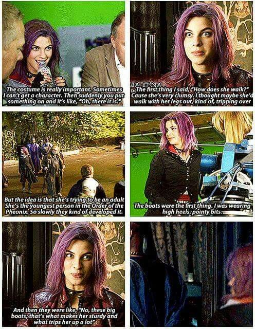 The making of Tonks | Harry Potter | Harry potter cast ...