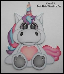 Unicorn created by Paper Piecing Memories by Babs, pattern by Cuddly Cute Designs