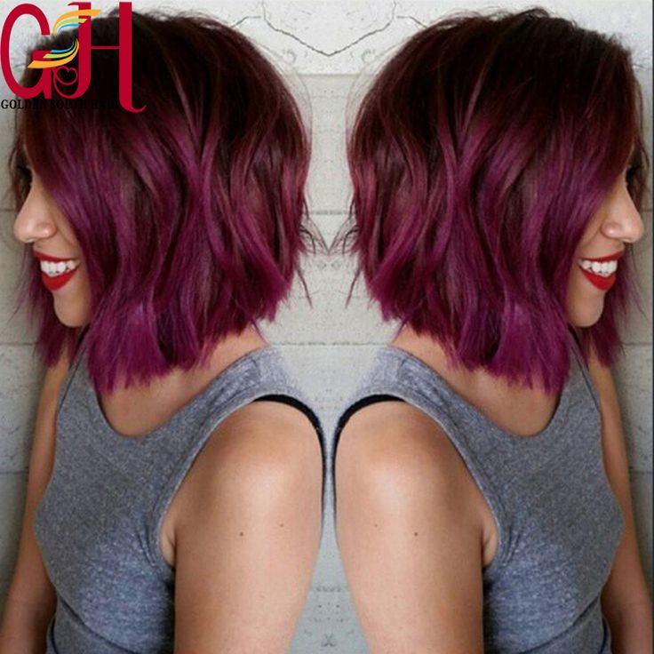 Find More Human Wigs Information about Purple Medium Short Body Wavy Bob Wigs 130density Glueless Human Hair Full Lace Wigs Brazilian Lace Front Human Hair Wigs,High Quality wig kit,China wig animal Suppliers, Cheap wigs for african american women from QingDao Golden South Hair on Aliexpress.com