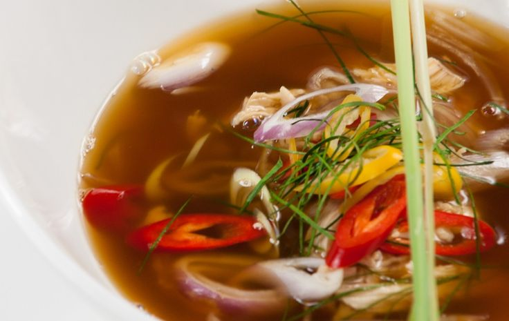 Hot and Sour Soup with Chicken