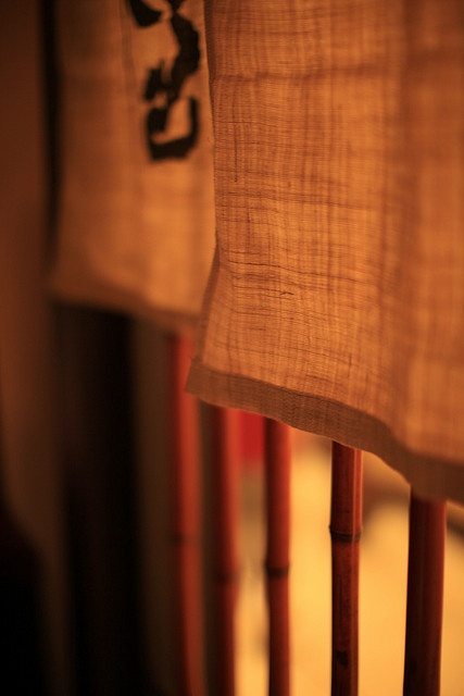 Noren 暖簾 - short curtains hung over at the entrance of shops and restaurants in Japan