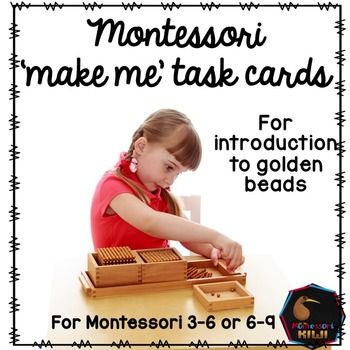 90 'Bring me' or 'make me' task cards for golden bead 'base 10' independent work in montessori casa or lower elementary classes.HOW TO USE The child takes one of these cards, makes the two, three or four digit number with Golden Beads or Stamp Game,  then brings it to an older buddy or teacher to check.These cards can also be used to make addition equations e.g.