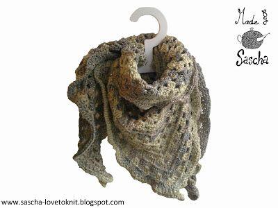 Aan het haken in de kleuren a la de Nordic shawl / Sascha: Gratis Patroon gehaakte driehoeksjaal