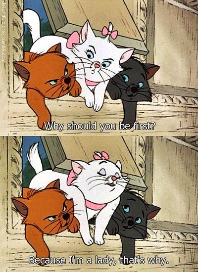 The Aristocats Because Im A Lady Thats Why Disney Disney