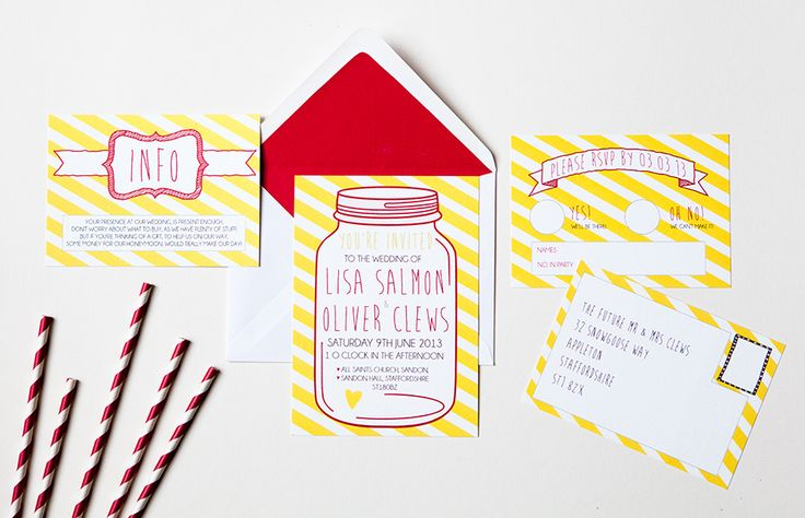 Candy Jars is colourful and bright with a retro feel! All wording can be changed and you may request colour changes to fit in with your theme. From £2.25 www.emmydesigns.co.uk