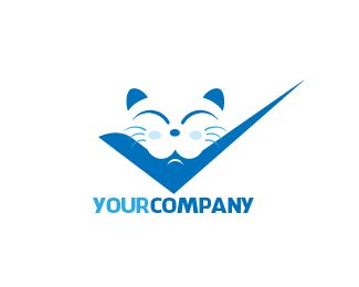 LOGO RIGHT BLUE CAT Designed by kukuhart | BrandCrowd