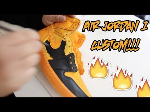 55ccf4a4db4dd0 AIR JORDAN  ORANGE PEEL  GATORADE 1 CUSTOM + TUTORIAL!!! - YouTube ...