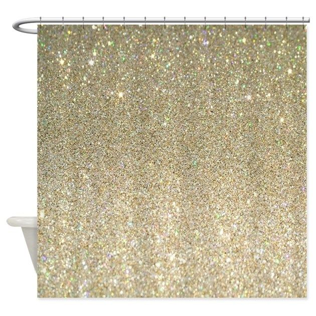 Shower Curtain By Focusedonyou With Images Gold Shower Curtain Glitter Shower Curtain