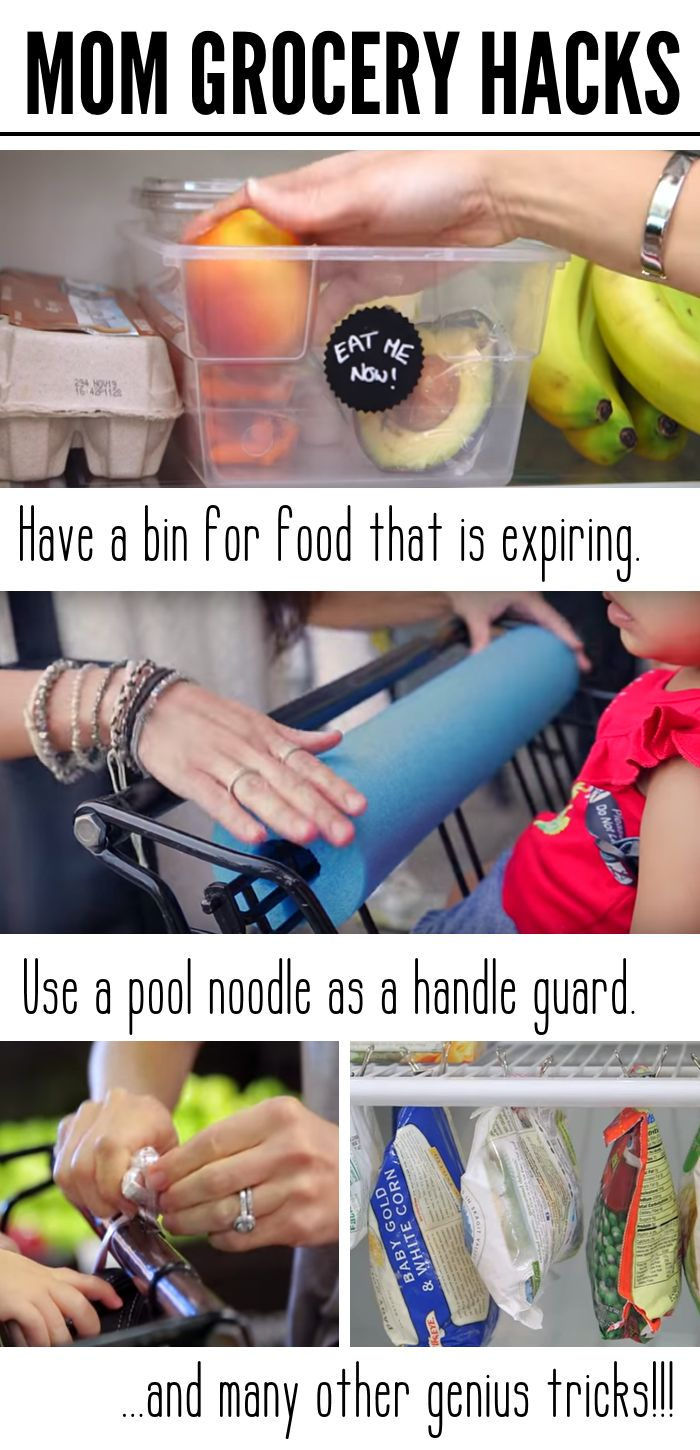 Grocery Store Hacks for Moms - One Crazy House