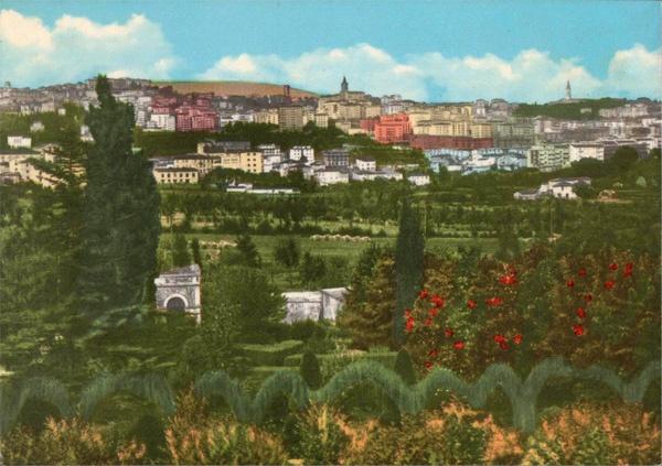Perugia, Italy - 60s Postcard (view from Prepo area)
