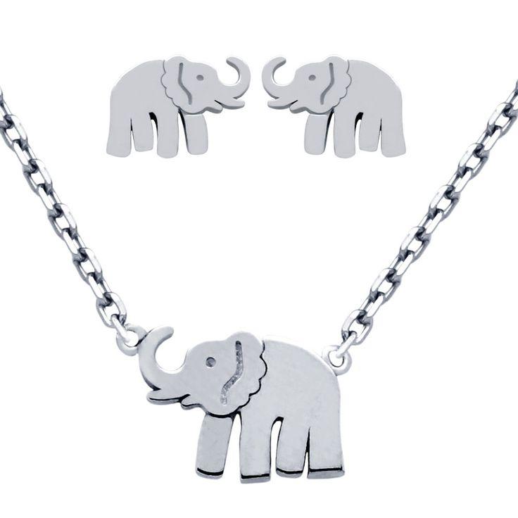 Sterling Elephant Set - Jewelry Buzz Box  - 1