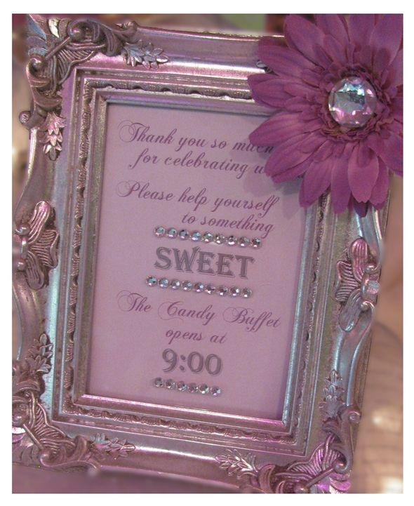 Grab a bag, take some treats and just remember Love is sweet.   or this Candy Buffet Sign