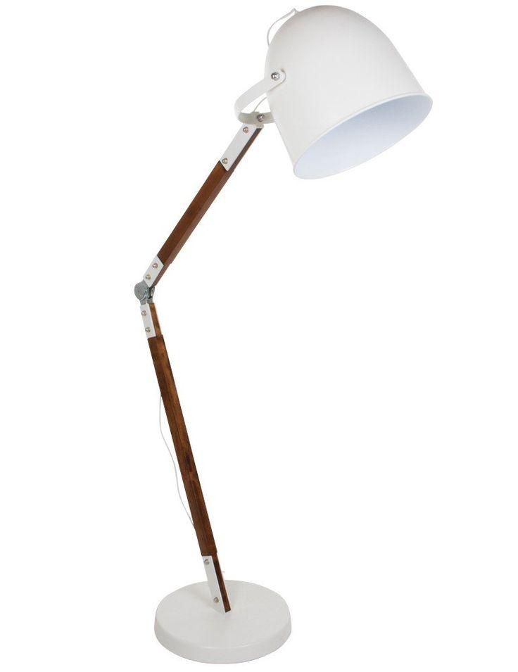Robuuste vloerlamp Bronq Cooper wit