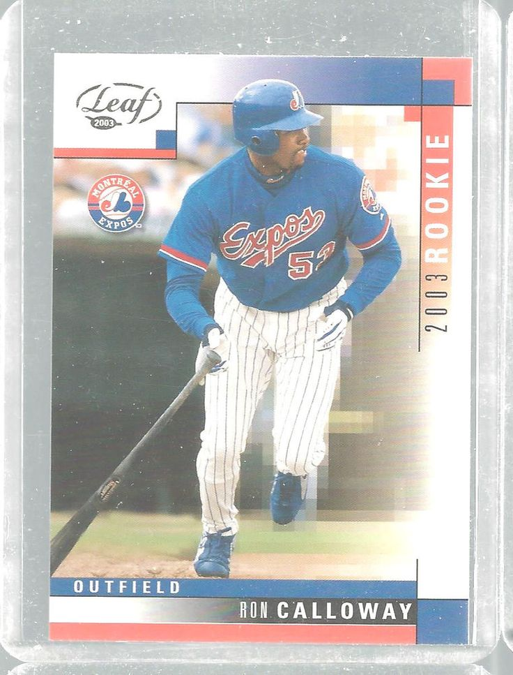 Ron Calloway Rookie Montreal Expos Leaf #307  2003 #Leaf #MontrealExpos