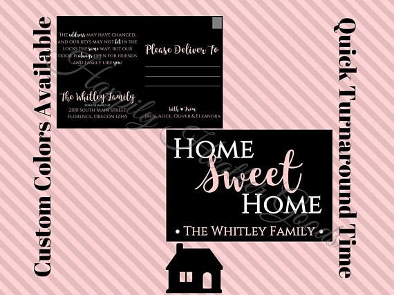 14 best Moving and New Home images on Pinterest Greeting card - address change template