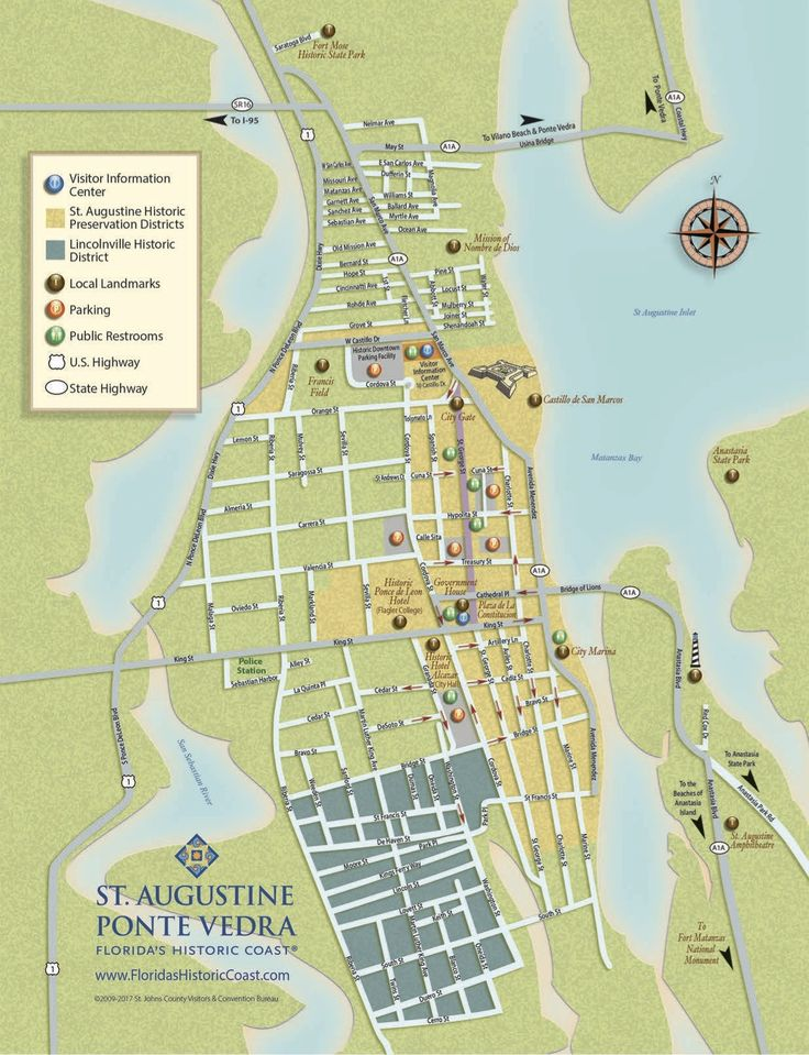 551 Best St Augustine Attractions Images On Pinterest Beach: St Augustine Hotels Map At Slyspyder.com