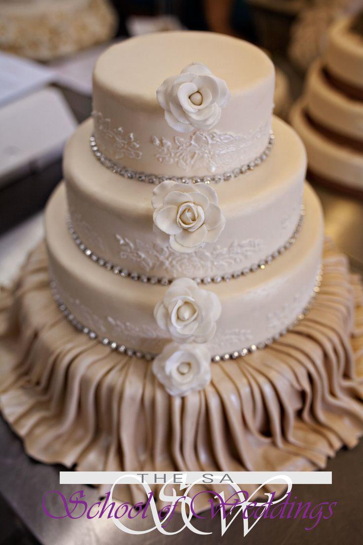 Beige Wedding Cake www.saschoolofweddings.co.za