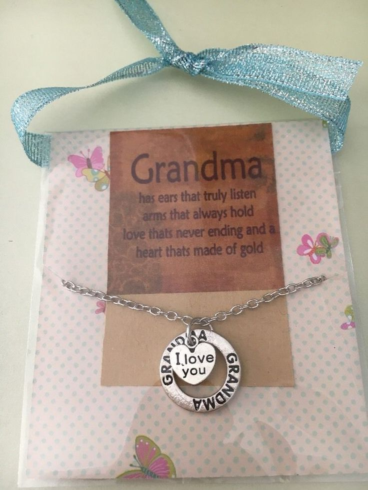 Grandma I Love You Necklace In Gift Package  | eBay