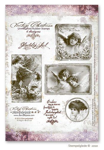 © Stempelglede® Vintage Christmas. Unmounted Rubber Stamp Sheet.   http://www.stempelglede.com/stemplervintagechristmas_en.html