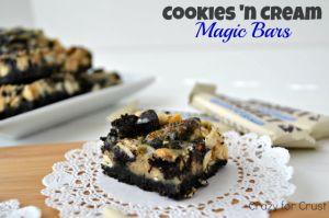 Cookies 'n Cream Magic Bars - Crazy for Crust