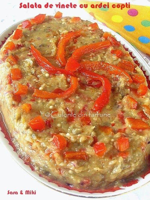 Salata de vinete cu ardei copti ~ Culorile din farfurie