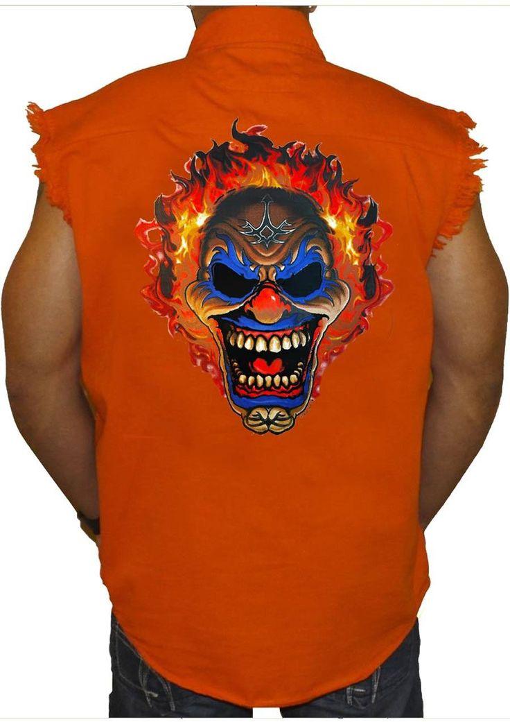 Clowning Around Sleeveless Denim Shirt