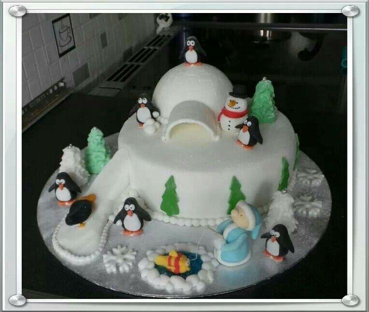 Christmas Cake Ideas Penguins : Penguin Christmas cake Christmas cakes Pinterest