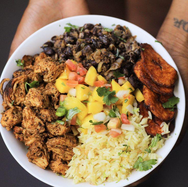 Black Bean Rice Bowls -Cilantro-lime rice and Cuban style black beans ...