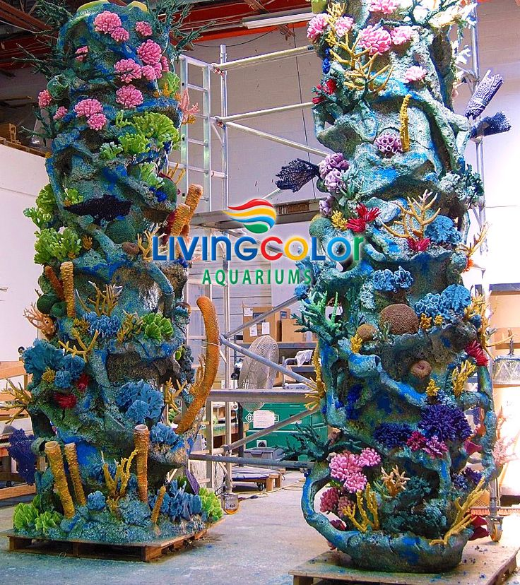 151 best images about living color aquariums artificial for Artificial coral reef aquarium decoration inserts