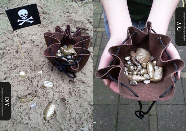 piraten schattenzakken maken  #pirates #treasure #bags
