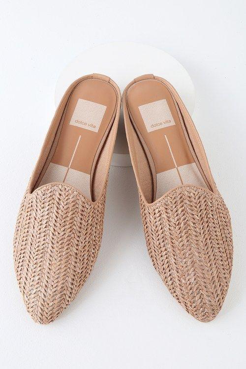 37e54c9ade33 Grant Natural Raffia Woven Loafer Slides in 2019