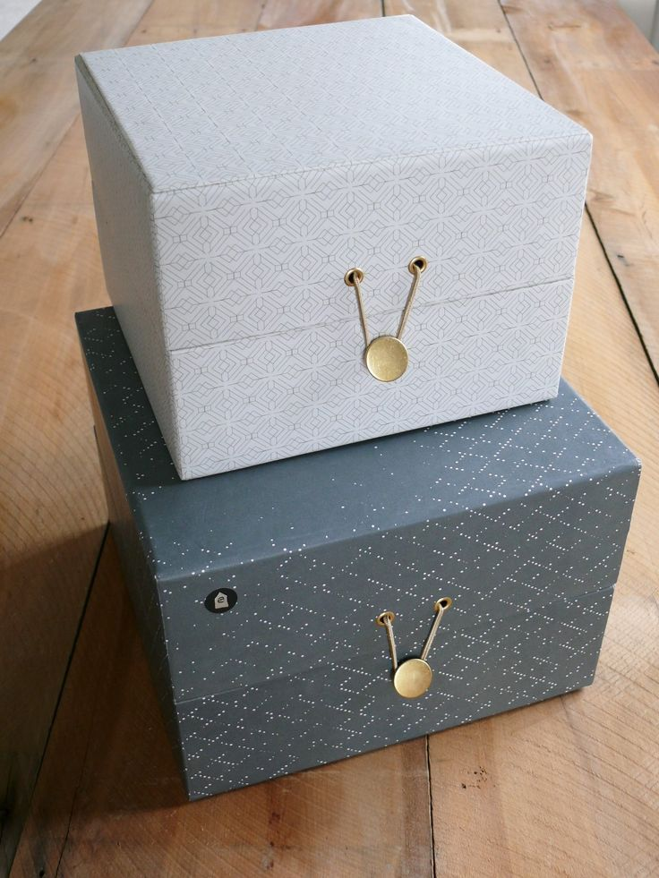 This set of 2 storage boxes has been handmade of carton and paper. Any variations are a part of the finish which makes the product unique.  Danish House Doctor brings a superb range of beautiful and practical items and, with a focus on high quality design solutions as well as beauty.