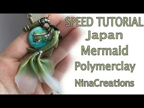 Speed Tutorial | polymerclay Japan Mermaid - NinaCreations - YouTube