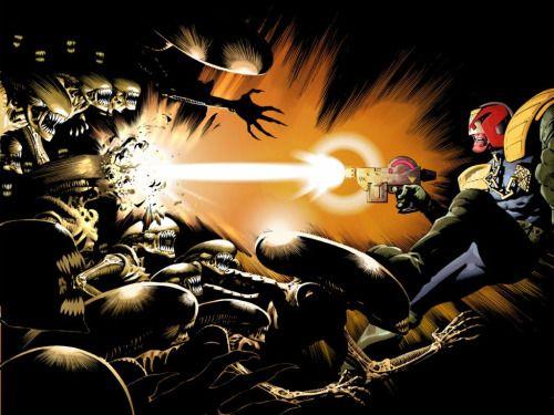 Judge Dredd Versus Aliens - Frazer Irving