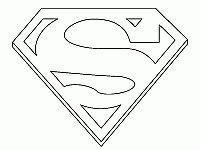Semplice disegno da colorare del logo di Superman