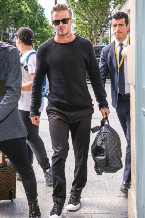 David Beckham wearing Ray-Ban Classic Wayfarer Sunglasses