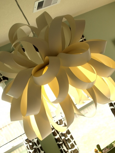 17 best images about diy light fixtures on pinterest christmas icicle lights origami paper - Paper light fixtures ...