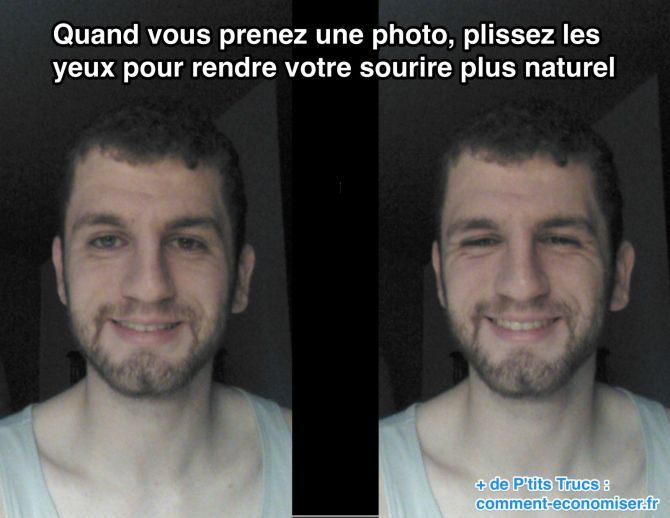 Que ça soit pour la photo de votre profil Facebook ou une photo de vacances, cette astuce est redoutablement efficace.   Découvrez l'astuce ici : http://www.comment-economiser.fr/etre-belle-beau-sur-photo.html?utm_content=bufferafda4&utm_medium=social&utm_source=pinterest.com&utm_campaign=buffer